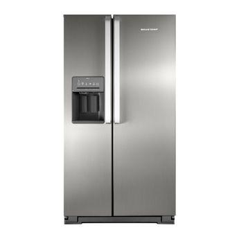 Geladeira-Frost-Free-Inox-560-Litros-Brastemp-Ative--Side-By-Side---Geladeira-Frost-Free-Inox-BRS62CR